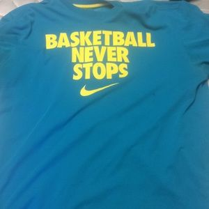 Basketball never stops shirt
